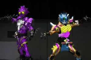 Kamen Rider Alpha Spider And Omega Fury King Photo by 99trev