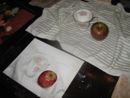 Still Life Apple and Cup by Mimitchki