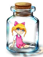 Trapped In A Bottle by cecile-o