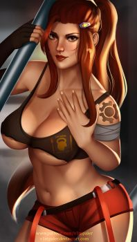 Brigitte Overwatch Full Nude Available by v1mpaler