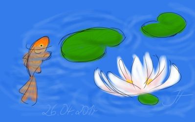 Squiggles: Fish Pond by janey-in-a-bottle