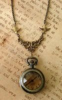 Amber Treasures Watch Necklace by FusedElegance