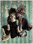 . Twisted kitty and dirty mongrel . by trA-amraK