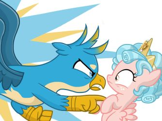 Gallus Confronts Cozy Glow by JustSomePainter11