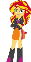 Equestria Girls Sunset Shimmer Vector by icantunloveyou