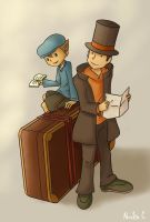 Professor Layton Fanart by Dallamokompas