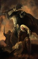 Eowyn vs Nazgul by ArtOfBenG