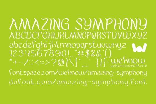 amazing symphony font by weknow