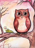 Awkward Owl by MaryDoodles
