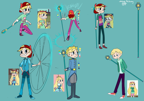 SVTFOE genderbend - male Star and his scepter by TRANduong2201