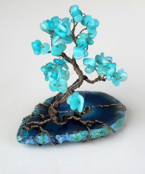 Turquoise tree miniature by IanirasArtifacts