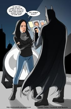 TLIID 382. Jessica Jones vs Batman by AxelMedellin