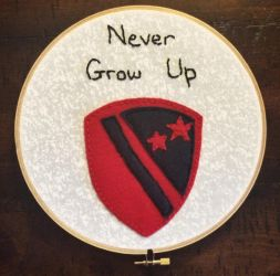 Never Grow Up Embroidery Hoop by madizzlee