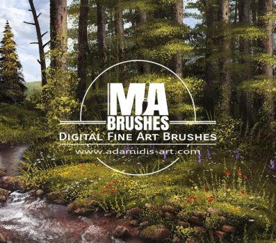 MA-Brushes Realistic Photoshop Brushes and Knives by MichaelAdamidisArt