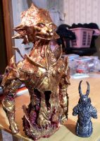 Ornstein defeated bust statue view 2 by futantshadow