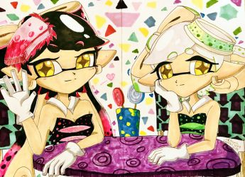 Traditional Squid Sisters by kiraradaisuki