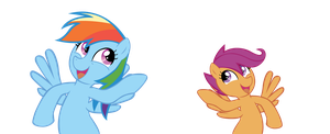 Rainbow Dash with Scootaloo by Ocarina0fTimelord