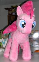 Old pattern Pinkie Pie plush commission by Bladespark