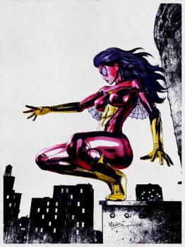 Spider-Woman by Mike-B-Hassett