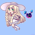 Pokemon Sun/Moon Lillie and Nebby Chibi by Pffycat