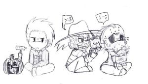 Michael Freddy and Jason chibi by xEvilxPenguinxNinjax