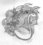 2009 Peacock Sketch by SilverFritillary