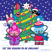 Tis The Season To Be Smiling Happy Holidays! by RealSmilingBear
