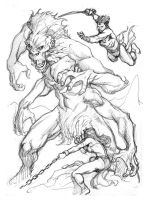 John Carter vs. The White Ape by aaronlopresti
