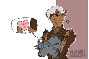 Commish - Fenris and 'Wuv' by kamidoodles