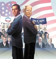 Obama and Mc Cain by Trucas