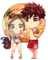 : [ Sunset  ] : KnB OC Pixel Chibi : by bakawomans