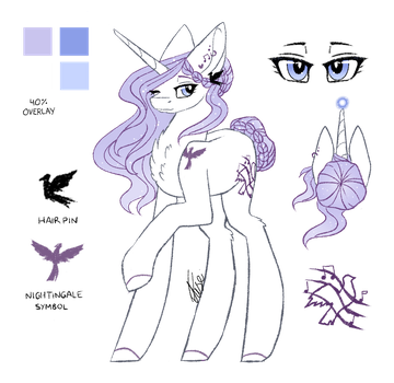 KindNightingale Reference Sheet :AT: [Updated] by InspiredPixels