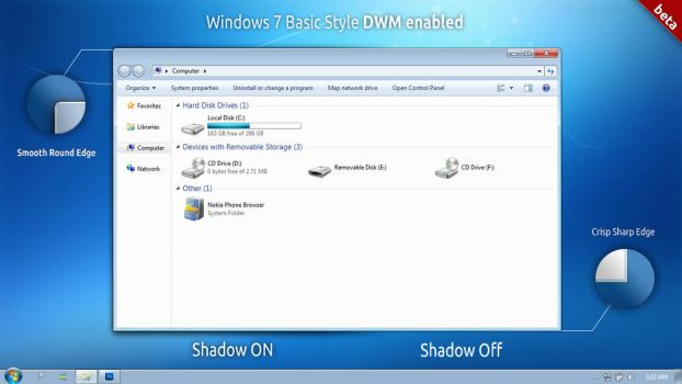 Windows 7 Basic Style DWM by bismanbir