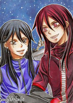 ACEO No157 Nocturn and Youma by nayght-tsuki