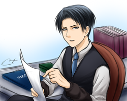 Teacher Levi by Vhenyfire