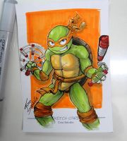 Michelangelo sketch card by thiagospyked