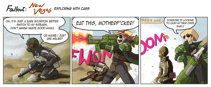Fallout New Vegas and Cass - comic by EstevaoPB