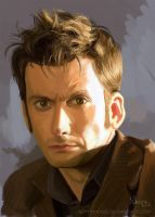 The Tenth Doctor - David Tennant by BettyNobs
