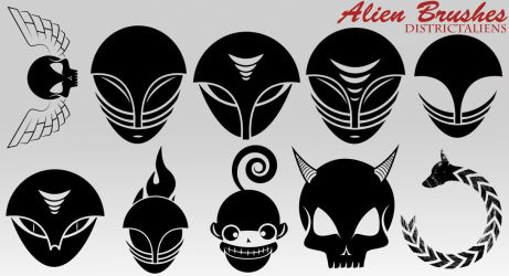 Aliens Brushes by DistrictAliens
