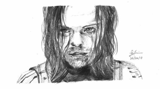 Bucky Barnes aka the Winter Soldier by samfrancis94