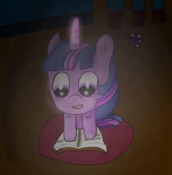 Twilight reading a book in the dark by teatree123