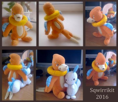 Buizel plushie by Sqwirry