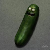Pickle Rick by Neskvik