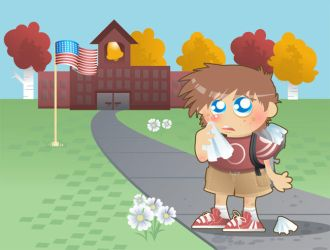 Kid's Allergies Illustration by jiggly