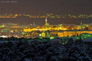 Zadar in snow by ivancoric
