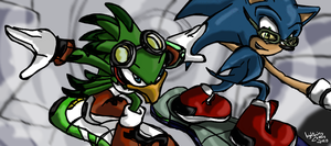 Muro Doodles: Sonic Riders by LightningChaos2010