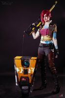 Borderlands - Lilith and Claptrap by ver1sa