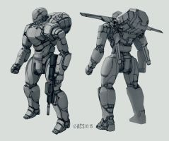Commission - Echo Mech by Shimmering-Sword