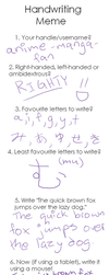 Handwriting Meme by anime-manga-fan