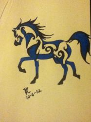 my tribal horse by 01whitewolf